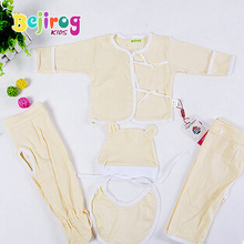New arrivals Baby sleeping suit Sleepwear robes Solid Home wear 5 pieces a set(China (Mainland))