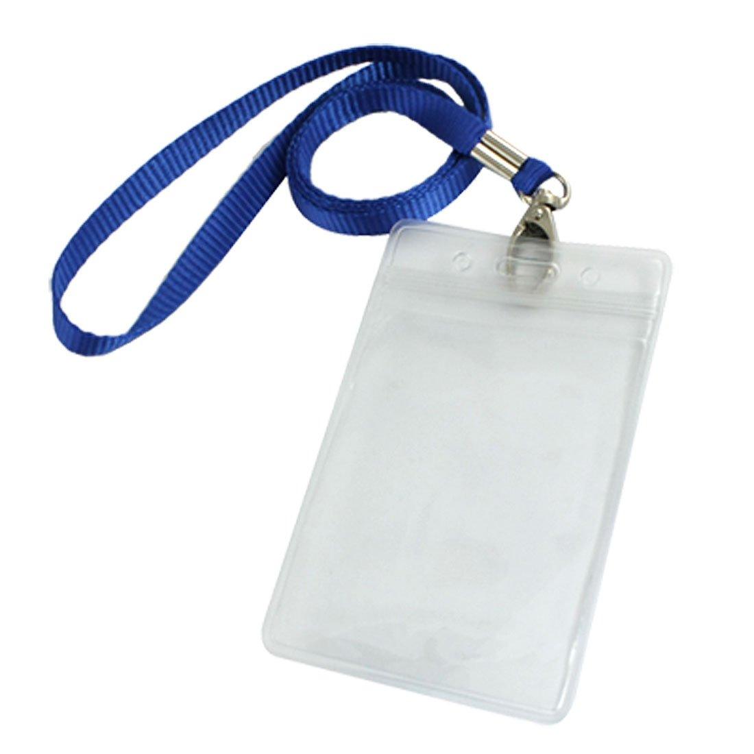 IMC Wholesale Vertical Clear Plastic ID Badge Card Holder w Neck Strap 2 Pcs<br><br>Aliexpress
