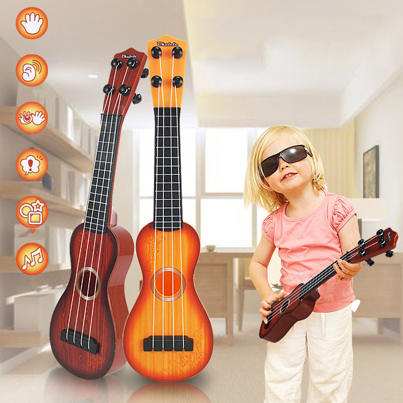 Children Toy Musical Wooden Instrument Educational Toys Baby Kids Educational Guitar Developmental Music Toy Ukulele TC0001(China (Mainland))