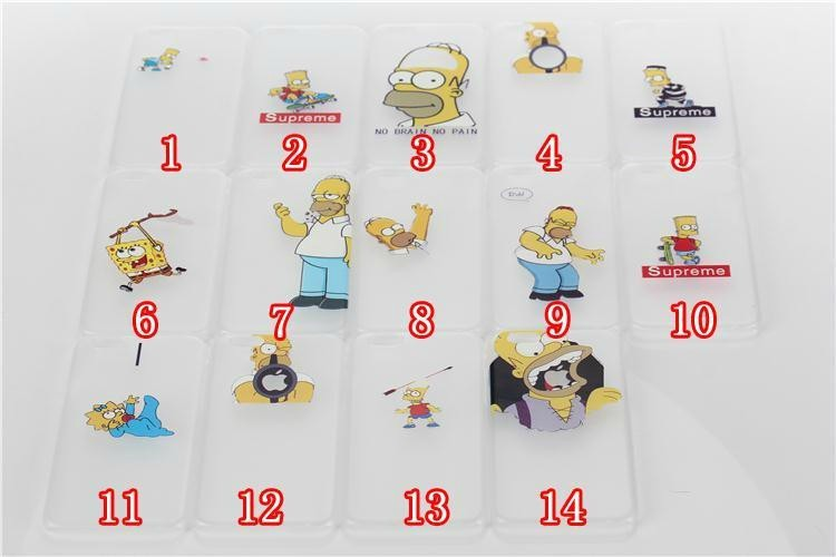 Hot Ultrathin Hard Cover case For Apple iPhone 6 (4.7) Homer Simpson Simpsons Gasp Logo Transparent Capa For iPhone6 Case(China (Mainland))