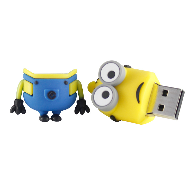 pen drive minion USB flash drive 100 real capacity 3 model pendrive cartoon usb stick 16g