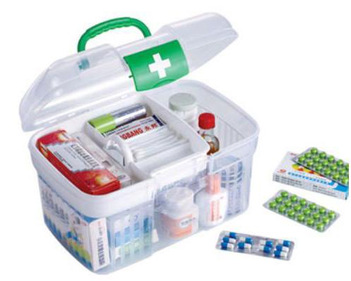 2016 Basket Transparent Medicine Box Child Care First Aid Kit Multifunctional Handle Storage Belt Seal Free Shipping(China (Mainland))