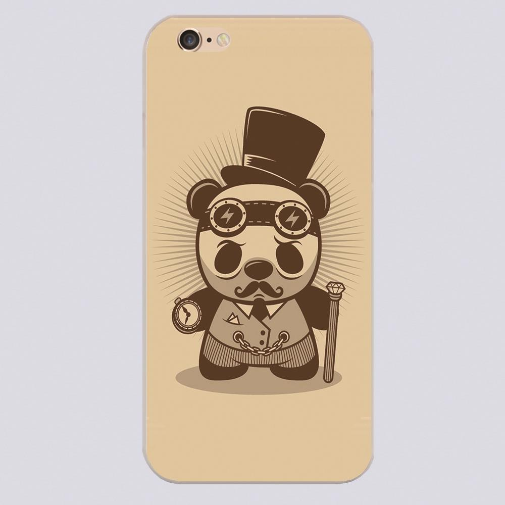 STEAMPUNK PANDA ARTjpg Cover case for iphone 4 4s 5 5s 5c 6 6s plus samsung galaxy S3 S4 mini S5 S6 Note 2 3 4 z2268(China (Mainland))