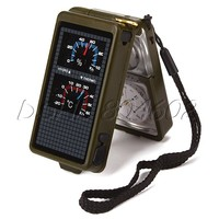Multipurpose 10 in 1 Outdoor Military Survival Tool Compass Kit Army Green