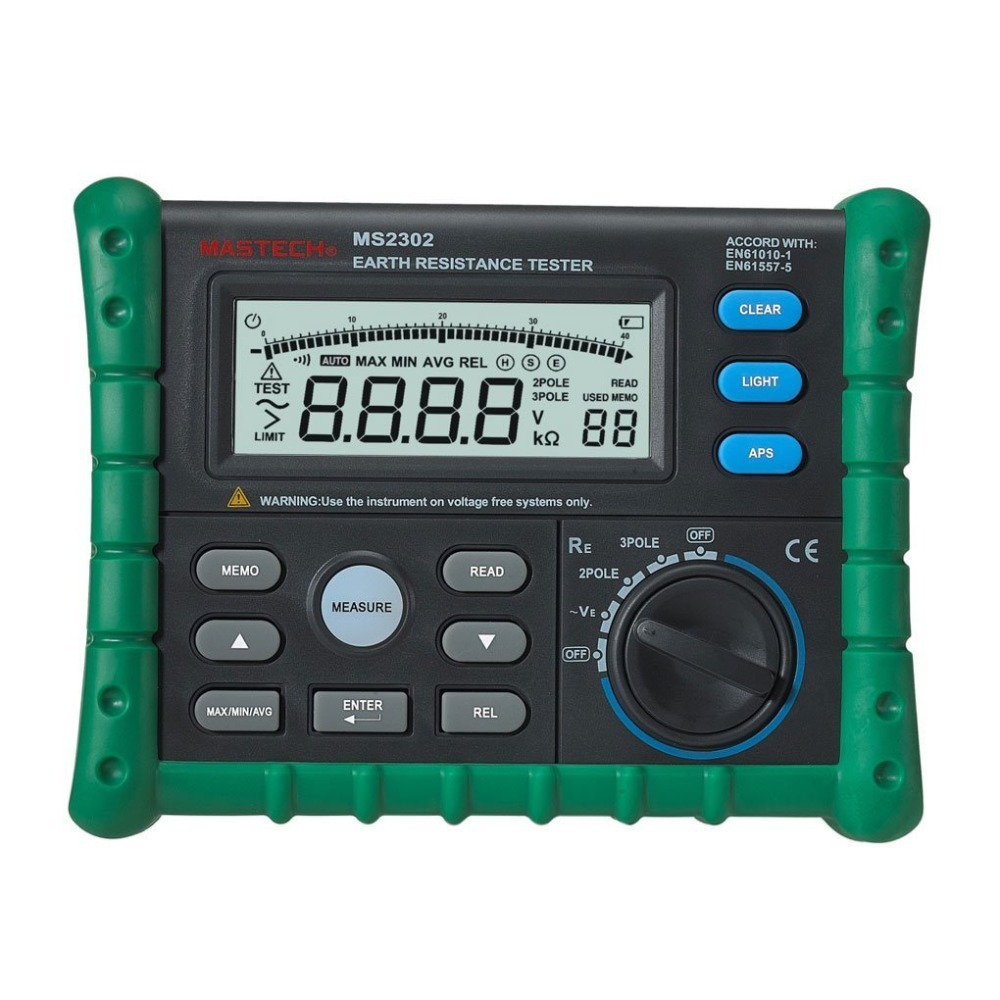 Ground Impedance Tester : Mastech ms digital earth ground resistance voltage
