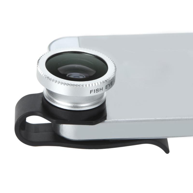 Universal Detachable Clip-on 180 Degree Telephoto Fisheye Lens for iPhone 4 4S 5 Fish Eye Photo Kit(China (Mainland))