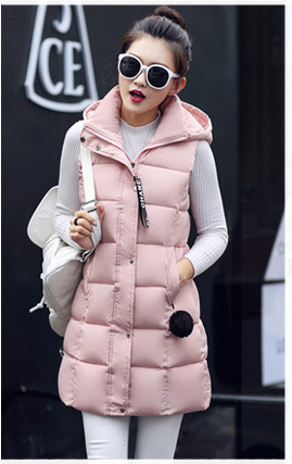 Ukraine In 2016 Solid Zipper Slim Thin Full 80% The New Long Down Jacket Dress Coat Collar Ladies Hooded Factory Direct Supply