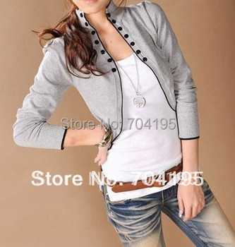 Free Shipping 2014 New Style  Long-Sleeve Plus Size Sweater  Womens Cardigan /Shrug/ Outwear  Dropshipping