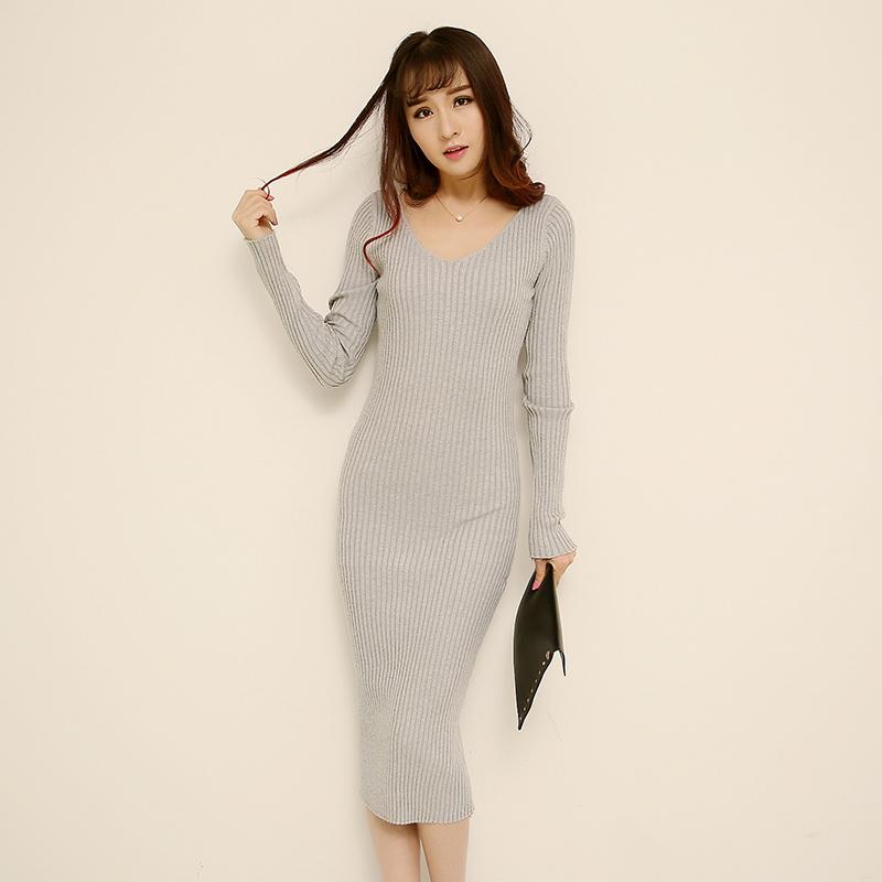 2015 Fashion Women Dress Autumn Winter Long Sweater