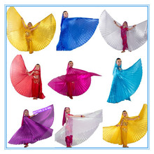 CHILDREN 1pc belly dance isis wings / belly dance wings / bellydance accessories gold for kids girls 7 colors