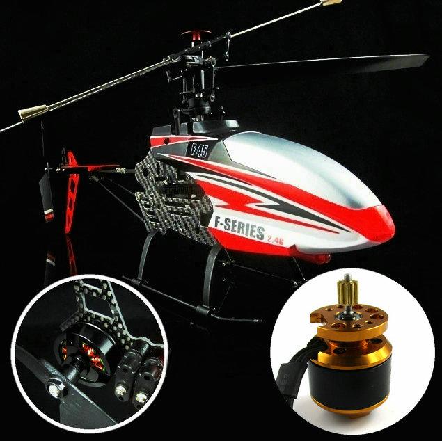 Free Shipping 2.4G 4CH RC Helicopter MJX F45 F645 with Double Brushless Motors Supporting Powerful Battery (All assembled)(China (Mainland))