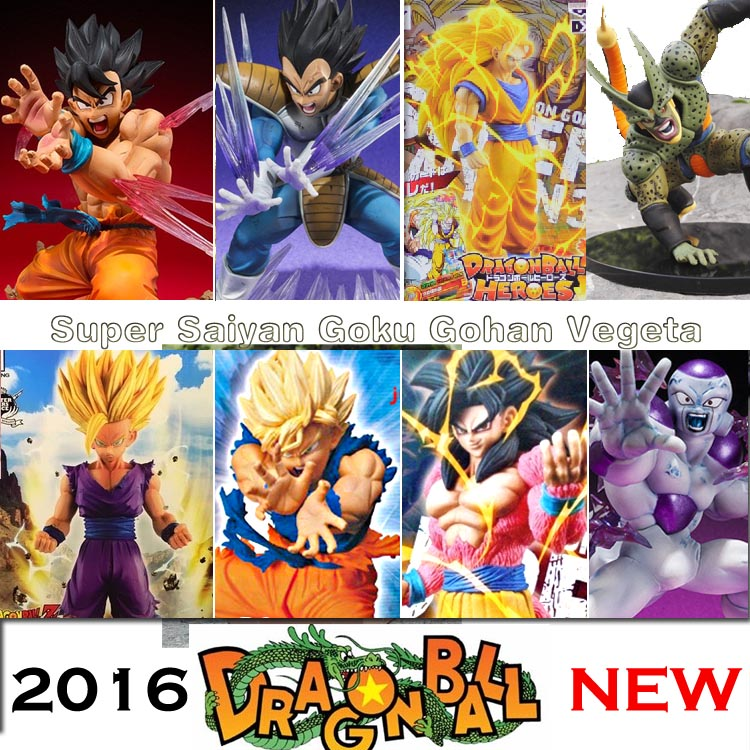 Anime Dragon Ball Z Super Saiyan 4 Son Goku Vegeta 3 PVC Action Figure dbz Raditz Gohan Model Toy Cell Buu DragonBall GT Frieza(China (Mainland))