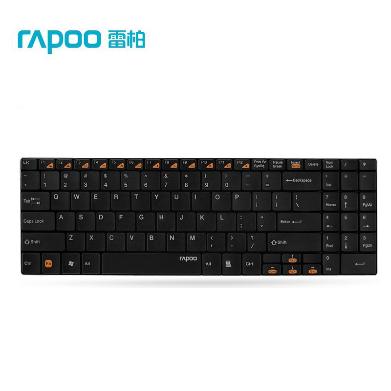 Rapoo E9070 2.4GHz USB Wireless Desktop Keyboard Ultra thin Computer Wireless Keyboard+USB Receiver - Black, White(China (Mainland))