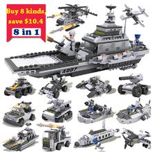 Kids Building Blocks Set cogo 13007 warcraf helicopter tank war Enlighten Educational military Bricks DIY Toy Birthday Gift
