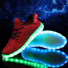 7 Colour Led Light Unisex glowing Shoe luminous Casual Luxury Brand Usb Canvas Schoen Zapatos De Marca Cheap Chaussure Lumineuse(China (Mainland))