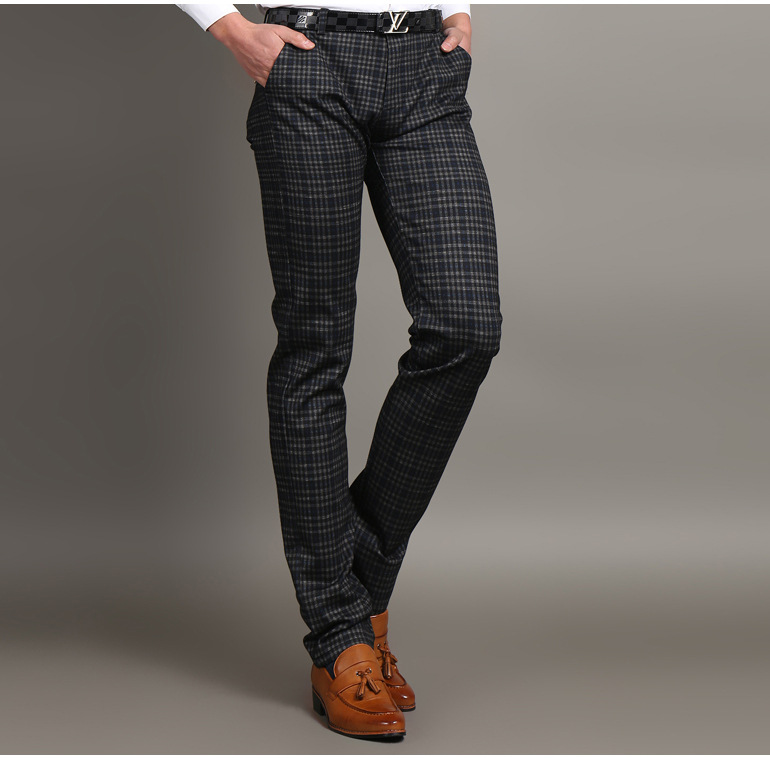 Plaid Dress Pants For Men