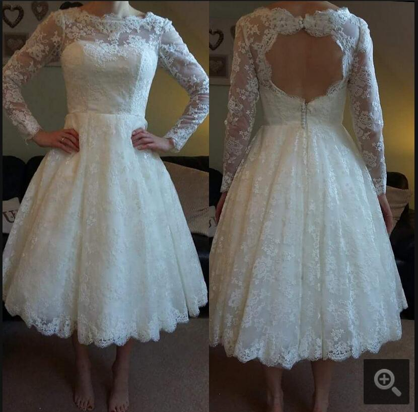 Long petite dresses promotion shop for promotional long for Petite lace wedding dresses