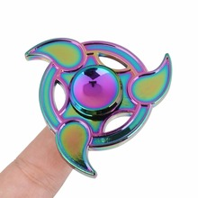 Buy Rainbow Fidget Spinner Metal Tri-Spinner EDC Hand Finger Spinner Autism ADHD Focus Anxiety Relief Stress Fidget Toys for $4.64 in AliExpress store