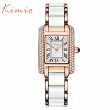 2016 New Kimio Luxury Brand Quartz Women Watches Diamond clock Bracelet Ladies Dress Gold Wristwatch with Gift Box female(China (Mainland))