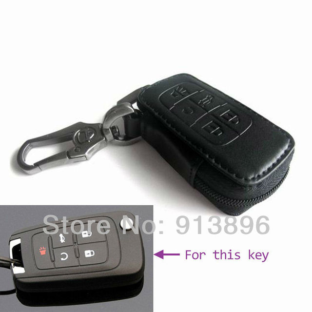 Leather car key case Fob cover For Buick New LaCrosse GL8 First Land key holder shell key rings keychain wallet/bag remote key