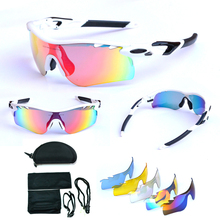 11color cycling glasses gafas ciclismo sunglasses mountain bike outside sport riding eyewear male Women windproof mirror 5 lens(China (Mainland))