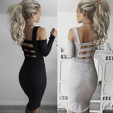 Buy Sexy Womens summer Clothes Bandage Bodycon Long Sleeve Evening Sexy Party Dress Women Clothing dresses for $6.79 in AliExpress store