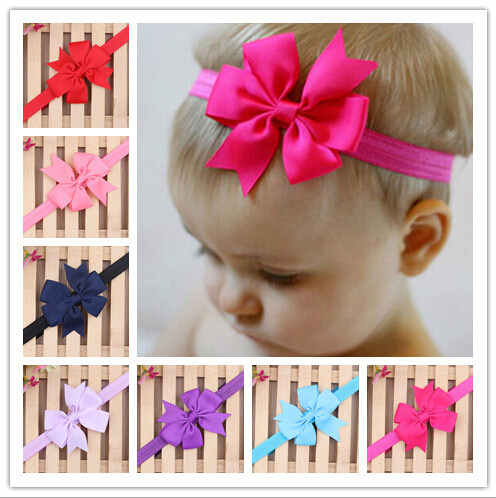2015 New Baby Bow Headband Hair Bowknot Headbands Infant Hair Accessories Girls Bow Headband Toddler Hairbands Free Shipping(China (Mainland))