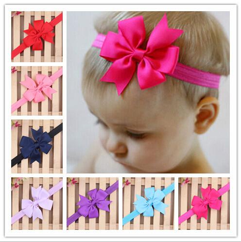 2015 New Baby Bow Headband Hair Bowknot Headbands Infant Hair Accessories Girls Bow Headband Toddler Hairbands Free Shipping(China (Mainland))