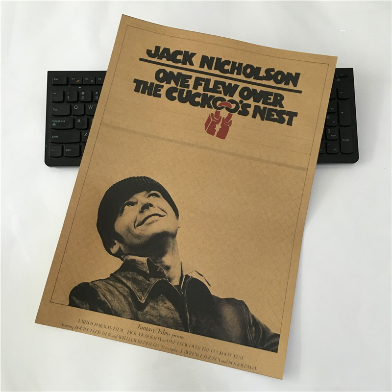 One Flew Over the Cuckoo's Nest Jack Nicholson Milos Forman paper Poster(China (Mainland))