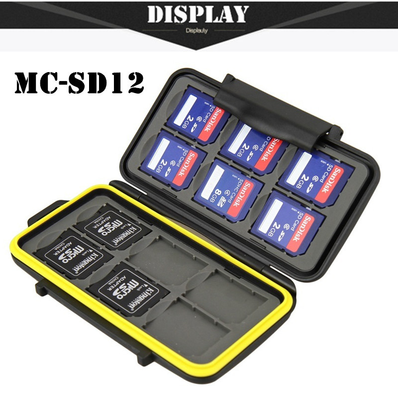 Free Shipping Memory Card Case Waterproof Supper Tough SD Card Holder Box MC-SD12 for 12pcs SD Card Case(China (Mainland))