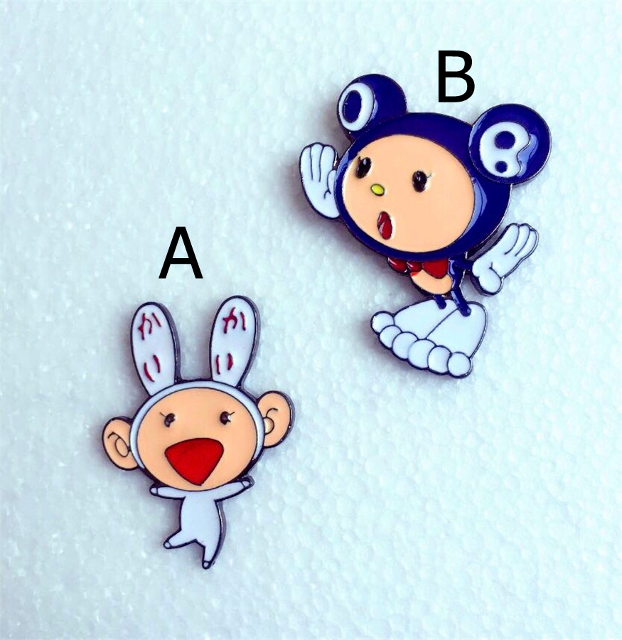 2016 new girls Brooch wholesale hot hot Murakami Takashi personality lovely cartoon brooch brooch gift free shipping!(China (Mainland))