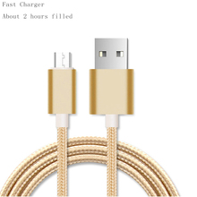 Buy Micro USB Cables 0.5M 1M 2M Metal Braided Cord Data Sync Wire Charger Samsung Galaxy Xiaomi HTC Android phones for $1.20 in AliExpress store