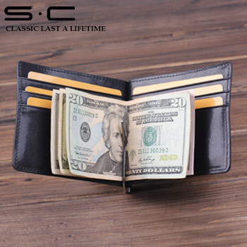 new arrivla european style wallet with 100% italy leather handmade with card slot and money clip free shiping for  wholesale