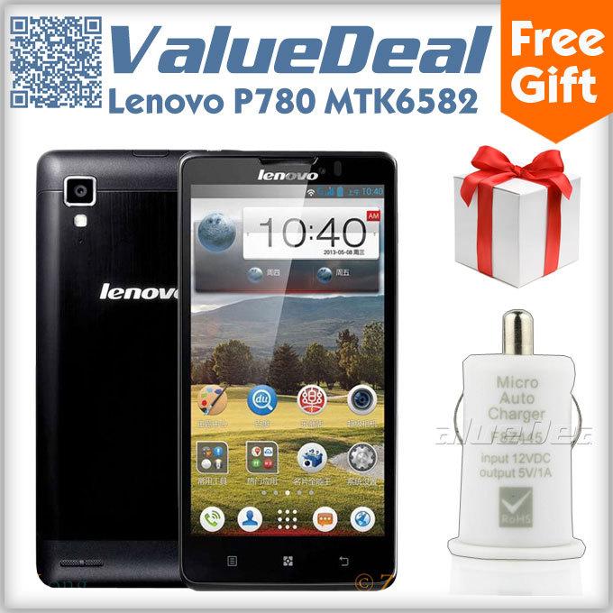 Original Lenovo P780 MTK6589 Quad Core Mobile Phone Android 4.2 1GB RAM 4GB Rom 5.0inch IPS Scren 8.0MP Camera GPS 3G Smartphone(China (Mainland))