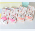 2016 Hello Kitty In Ear girls kids gift storage case stereo earphone for Iphone samsung MI