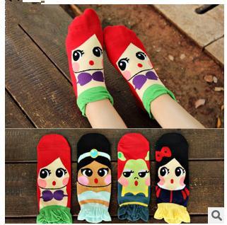 The new spring and summer 2015 stereo Mermaid Princess Korean socks cotton fashion casual socks socks and lovely lady(China (Mainland))