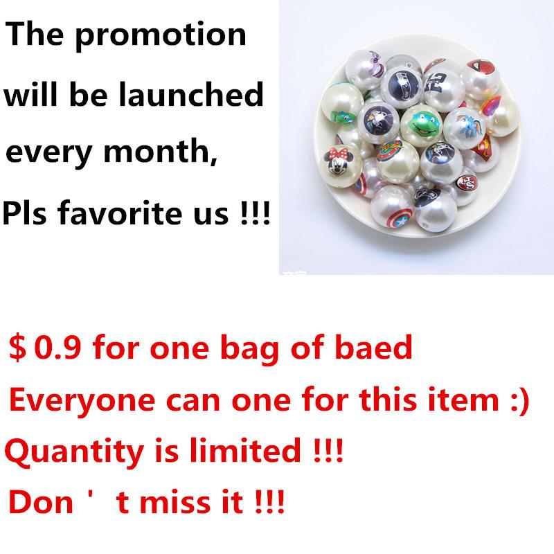$0.9! Verkoopbevordering voor 20mm 100 stks/partij mix stijlen abs nep parel print stripfiguur bead voor handgemaakte sieraden(China (Mainland))