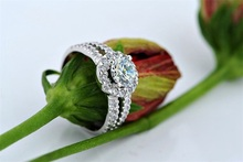 90 OFF 100 925 Sterling Silver Ring 1 Carat Round Synthetic Diamond Zircon Wedding Rings For