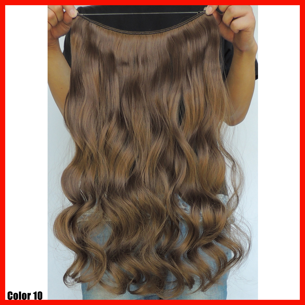 20inch flip in hair piece curly synthetic japanese fiber white girl hair extensions ginger peruca hairpiece accessories color 10<br><br>Aliexpress