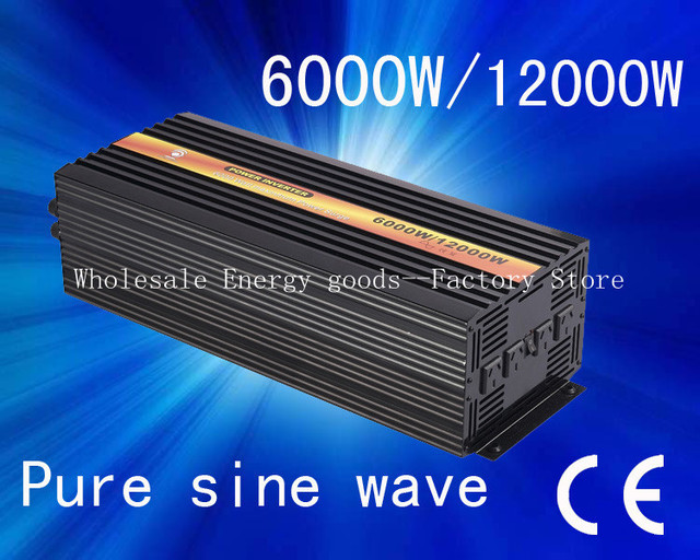 Free shipping!6000W 24v frequency invertor 50hz to 60hzCE&ROHS Approved((CTP-6000W)