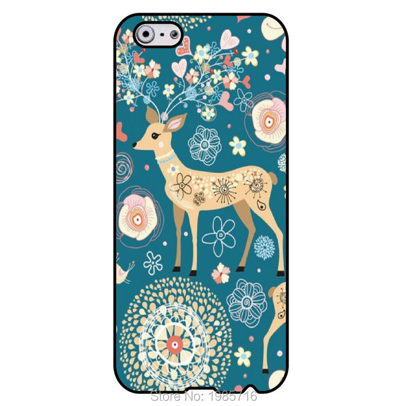 Deer cartoon cell phone fashion logo Original housing cover for iphone 4 4S 5 5S 5C 6 6plus for SamSung note 5 note 3 note4(China (Mainland))