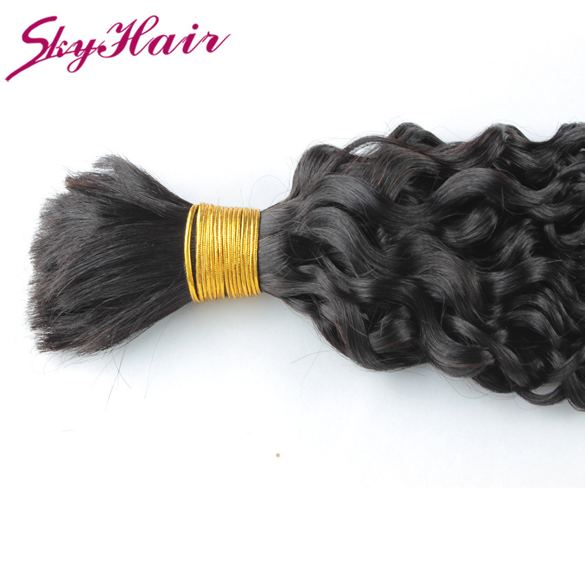 Peruvian virgin hair kinky curly bulk hair for braiding 1pcs/lot peruvian virgin human hair for braiding bulk no attachment 100g
