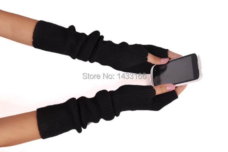 New Winter Long Section Of Cashmere Fingerless Gloves Hot Color Can Be Customized Authentic Free Shipping(China (Mainland))