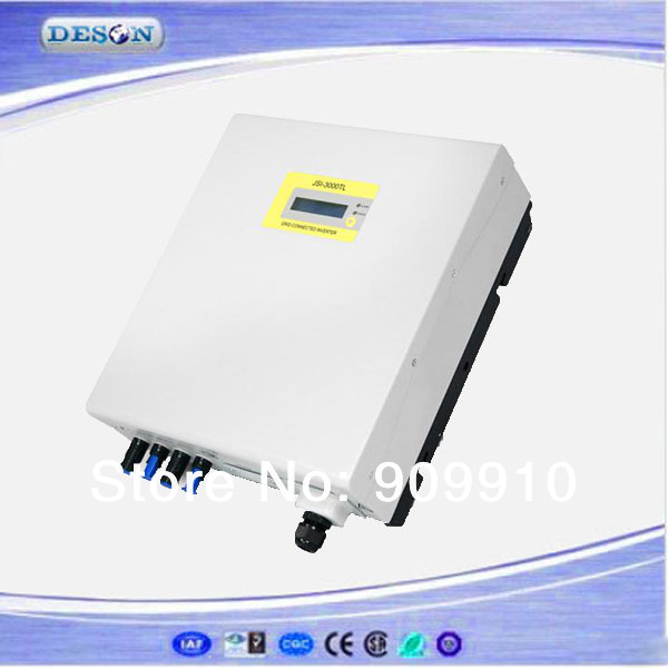High performance grid connected inverter , 100-500Vdc to 230VAC transformer-less 3000W single phase type solar inverter grid tie(China (Mainland))