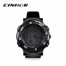 Multifuncional exterior impermeable del cuarzo del deporte Digital reloj de pulsera w / Compass – negro ( 1 x CR2016 )