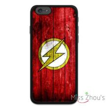 The Flash Comic Hero Protector back skins mobile cellphone cases for iphone 4/4s 5/5s 5c SE 6/6s plus ipod touch 4/5/6