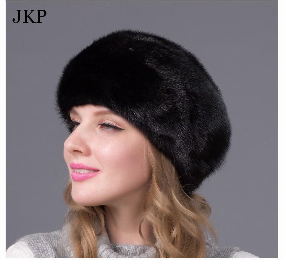 f027ea5d27c Real mink fur hats for winter women fur cap with diamond 2015 new fashion octagon  mink fur beret Russia good quality elegant hat