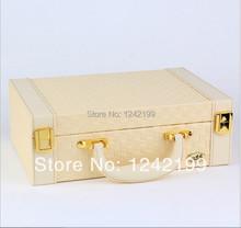 Новый стиль роскошные коробка для ювелирных изделий кожаный организатор ювелирные изделия для проведения ожерелье ювелирные изделия чехол серьги шкатулки отображения на день рождения