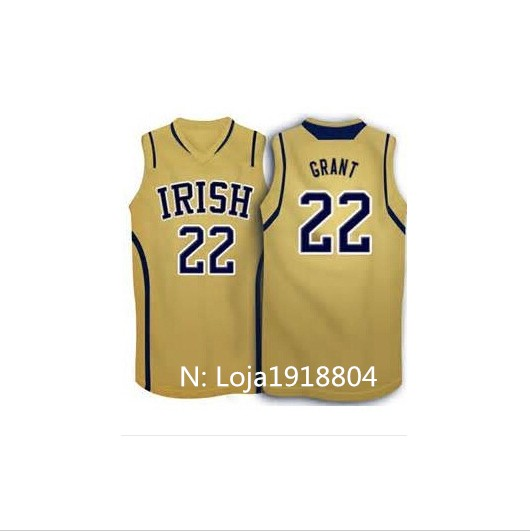 Hot selling 22 Jerian grant Notre Dame Fighting Irish basketball Jersey embroidery sewn reminiscent of high quality(China (Mainland))
