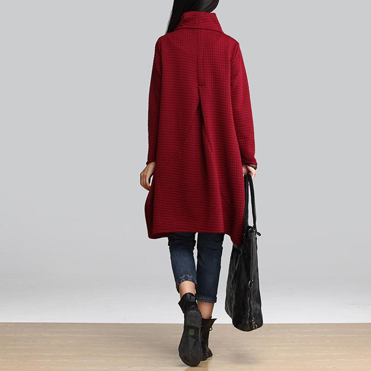 Vestidos 2016 Autumn Winter Women Casual Cotton Loose Scarf Collar Dress Temperament Long Sleeve Blouse Plus Size Dress